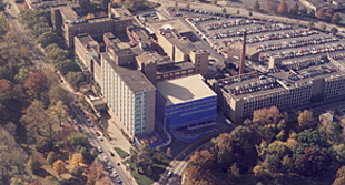 Aerial view of The Mt. Sinai Medical Center in University Circle