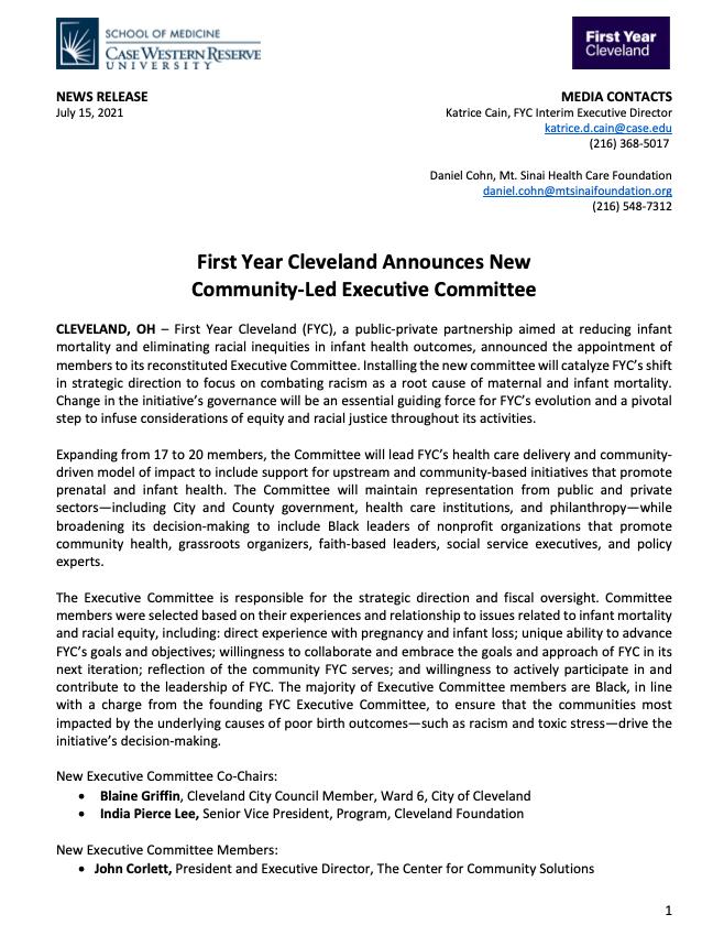 FYC Press Release image